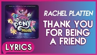 Смотреть клип песни: Rachel Platten - Thank You For Being A Friend