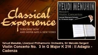 Смотреть клип песни: Yehudi Menuhin - Violin Concerto No. 3 in G Major, K.216: II. Adagio