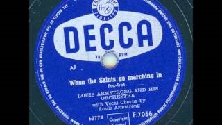 Смотреть клип песни: Louis Armstrong and His Orchestra - When the Saints Go Marching in